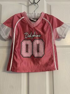 Infant/Baby Girls Miami Dolphins #00 18 Mo Jersey (Pink) NFL Team Apparel Jersey