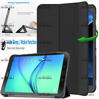 "Leather Magnetic Smart Case Cover For Samsung Galaxy Tab A 9.7"" SM-T550 SM-T555"