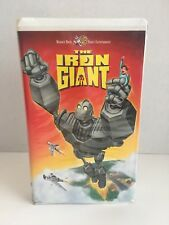 The Iron Giant (Vhs, 1999) Warner Bros. Family Entertainment - Clamshell Case