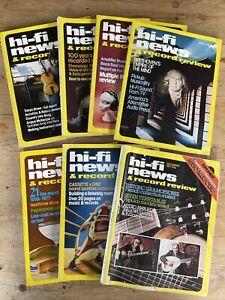 Vintage Hi-Fi News and Record review magazine January-June & December 1977, 7pcs