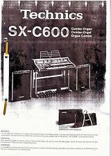 Technics SX - C600  Bedienungs u. Montageanleitung  in deutscher Sprache