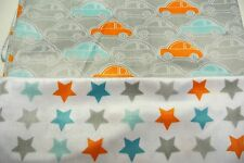 Cars Stars Minky Baby Blanket Can Personalize Double Sided 28x36