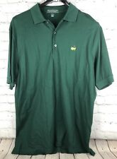 The Masters Collection Mens Polo Shirt Green Augusta Logo PGA Golf Men's Large