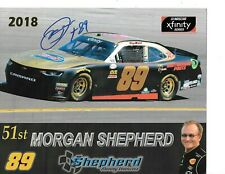 2018 MORGAN SHEPHERD #89 SHEPERD RACING  SIGNED Autographed POSTCARD