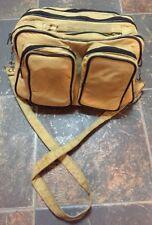 JCPenney Vintage Camera Bag Everyday Tan Black Accents Strap Padded VTG Patina