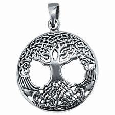 Tree Of Life 5 g Solid 925 Sterling Silver Celtic Pendant New BELDIAMO