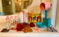 Vtg Barbiel Cut N Curl Set Mattel 1964