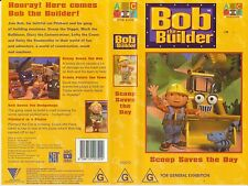 VHS *BOB THE BUILDER - SCOOP SAVES THE DAY* ABC 4 Kids Can we fix it?Yes we can!
