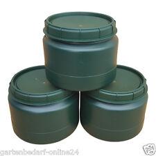 3 Stück 25 Liter grüne Futtertonne Futterfass Vorratstonne Drehdeckel Box NEU.