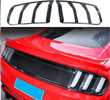 Black Carbon Fiber Tail Light Lamp Bezels Cover Trim For 2015-2017 Ford Mustang