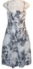 WORTH Dress sz 6 Romantic Gray & White Floral Cotton Fit & Flare