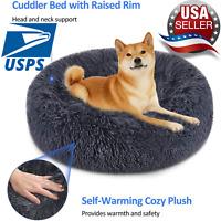 Dog Cat Pet Bed Warm Large Plush Sleeping Kennel Donut.