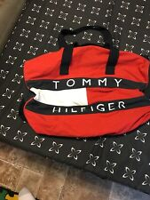 Tommy Hilfiger Gym Duffel Bag Yellow Vintage Retro Spell Out  Color Block