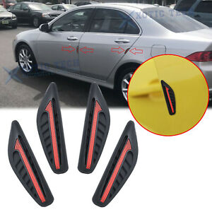4x Black Car Bumper Door Edge Protection Anti-rub Guard Trim Sticker Decoration