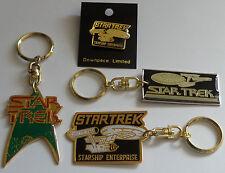 STAR TREK : 1 PIN / BADGE & 3 KEYRINGS - TOS, TMP (BP)