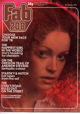 Fab 208 Magazine 7 January 1978     Andrew Stevens      Deirdre Eyden