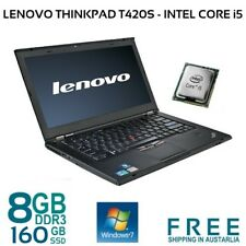 "Lenovo Thinkpad T420s Laptop i5 2520M 4/8GB 160GB SSD WiFi 14"" LED Win7 Pro"