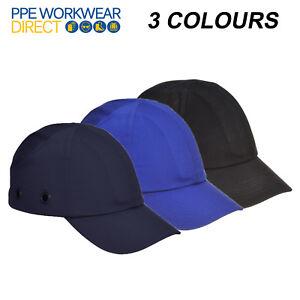 PORTWEST Bump Cap Hard Hat Safety Factory Removals Adjustable Peak Summer PW59