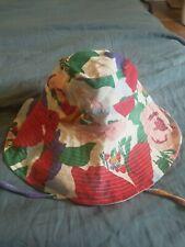 NWT Faithfull The Brand Floral Tie Detail Anita Bucket Sun Hat
