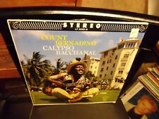 Count Bernadino Calypso Bacchanal LP 1962 Carib Records VG+ IN Shrink