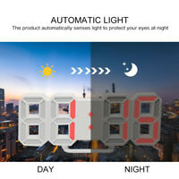 Digital 3D LED Wall Clock Alarm Snooze Watch 12/24 Hour Calendar Modern Home NEW