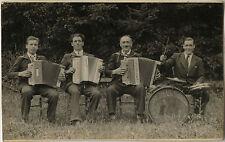 PHOTO ANCIENNE - VINTAGE SNAPSHOT - ORCHESTRE MUSIQUE ACCORDÉON - MUSIC BAND