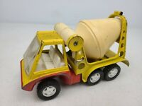 Vintage Hubley 1969 Red & Yellow Cement Mixer Toy by Gabriel