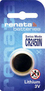 1 x Renata CR2450 Batteries, Lithium Battery 2450 | Shipped from Canada