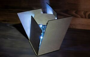 Futuristic Handmade LED Night Lamp - Inclined Parallelepiped Shape Lamp