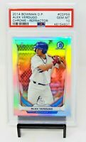 2014 Bowman Chrome REFRACTOR Red Sox ALEX VERDUGO Rookie Card PSA 10 GEM Pop 46