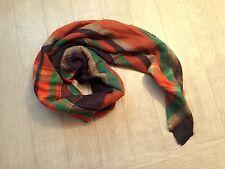 ZARA Women's Checked/Striped Scarf(Multi Color. Size:M)