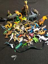 80 Piece Pvc Animal Figures Lot: Zoo, Safari, Wildlife, Farm, Dinosaur, Bugs Etc