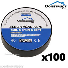 """Construct Pro 3//4/"""" x 60ft UL Listed Electrical Tape 25 Pack Set Lot CON3119B x25"""
