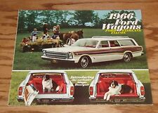 1966 Ford Wagons Fairlane Falcon Ford Wagons Sales Brochure 66