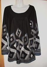 Geometrische Hüftlang Damenblusen,-Tops & -Shirts im Tuniken-Stil ohne Mehrstückpackung