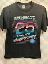 Vintage WalMart 25th Anniversary 80's Single Stitch Neon T-Shirt Size S
