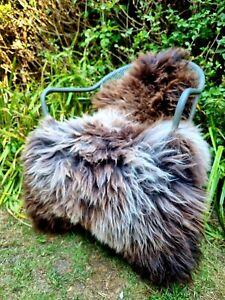 XXXXL Huge British Jacobs Brown Sheepskin Rug - 130cm by 95cm A+++ (2723)