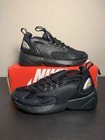 Nike Zoom 2k Triple Black AO0269-002 Running Shoes Men's Size 9