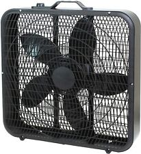 """Comfort Zone Cz200Abk 20"""" 3-Speed Box Fan for Full-Force Air Circulation with Ai"""