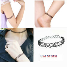 12X Retro Vintage Gothic Tattoo Choker Stretch Necklace Cool Gril 2018