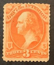 Travelstamps:US  Stamps Scott #O17 3 cent  Dept of Interior Used Ng Light Cancel