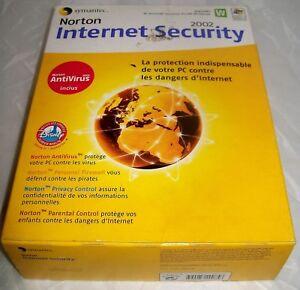 Norton Internet Sécurity 2002.  Windowx XP Home/XP PRO/2000 PRO/98/ME/NT WS