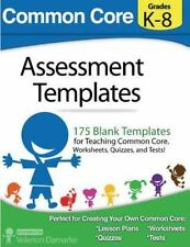 Common Core Assessment Templates : Full Color Print Version by Velerion...