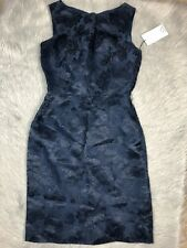 19c3ec84147 Siri Brand Womens Sleeveless Navy Silk Floral Dress Sz 2
