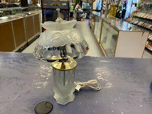 Vintage Crystal Lamp Made in Portugal
