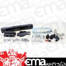 Aeroflow AF64-2104BLK Rotary Fuel Rail Kit Series 6 7 & 8. Mazda Rx7 Black