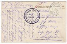 34/730 ak campo post givenchy 1916 sello armierungs batallón 28-después de Dessau