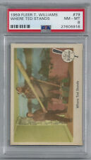 1959 Fleer Ted Williams #79—Where Ted Stands—PSA 8 NM-MT