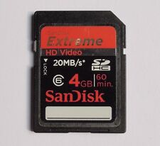 4GB SanDisk Extreme HD Video SDHC Class6 20MB/S SDSDRX-004G New Genuine
