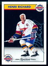 Zellers Masters of Hockey Henri Richard Autographed Signed Card w/COA #396/1000